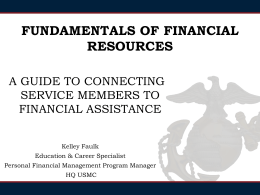 Fundamentals of Financial Resources: A Guide to Connecting