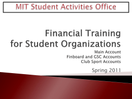 Request for Payment Overview - MIT Division of Student Life