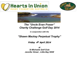 "The ""Uncle Evan Fraser"" Charity Challenge Golf Day"