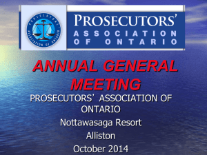 awards committee - Prosecutors` Association of Ontario