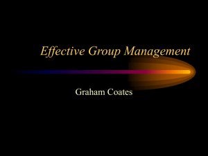 Effective Group Management
