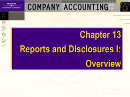 Content of Annual Financial Reports AASB 1034: The disclosure