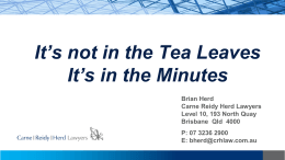 It`s in the Minutes - Better Boards Australasia