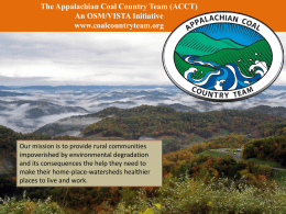 The Appalachian Coal Country Team (ACCT)