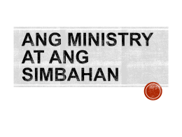 CHURCH MINISTRY - CBCP-BEC