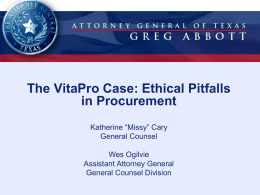 Ethical Pitfalls in Procurement
