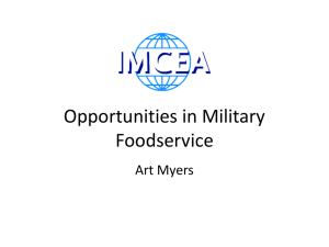 Opportunities in Military Foodservice