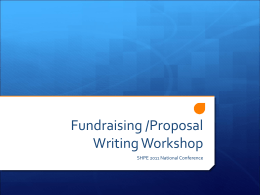 Fundraising /Proposal Writing Workshop