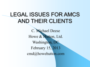 Legal Issues For AMCs and Their Clients