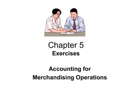 Chapter 5 - Accounting