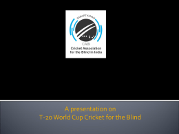 SPORTS @ IIMA - the Cricket Association for the Blind in India