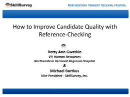 Reference Checking - How to Improve the Quality of Your Hires