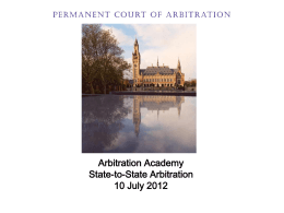1st part - Arbitration Academy