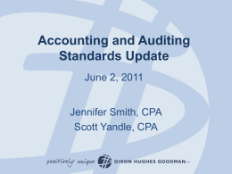 Auditing and Accounting Standards Update ( file)