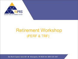 INPRS (TRF and PERF) General Meeting Presentation