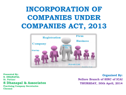 cs s dhan pal material on companies act programme