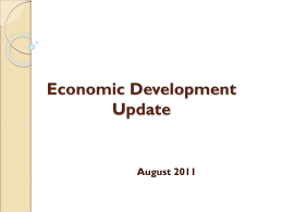 Economic Development Update - City of Cumberland, Maryland