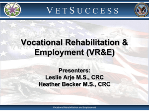 Vocational Rehabilitation & Employment