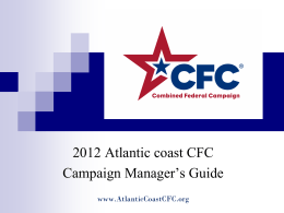 CFC - Atlantic Coast Combined Federal Campaign