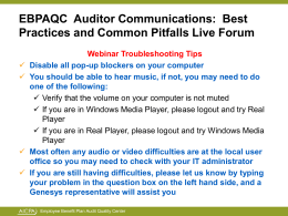 Auditor Communications: Best Practices and Common Pitfalls
