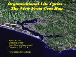 Organizational Life Cycles - Coos Watershed Association