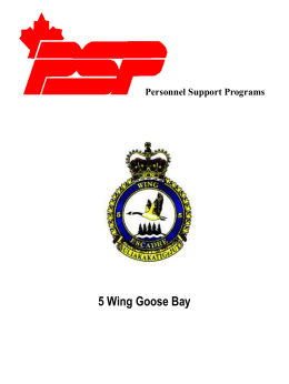 Personnel Support Programs 5 Wing Goose Bay