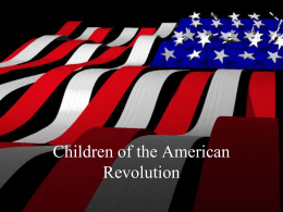 Children of the American Revolution