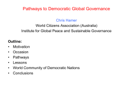 Pathways to Democratic Global Governance