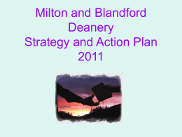 Milton and Blandford Deanery Plan