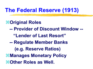 The Federal Reserve (1913)