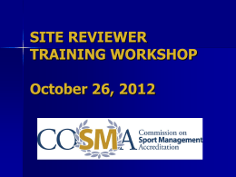 Site Reviewer Training