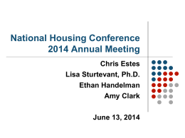 View the Presentation - National Housing Conference