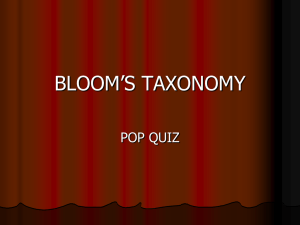 BLOOM`S TAXONOMY