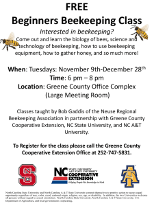 FREE Beginners Beekeeping Class Interested in beekeeping