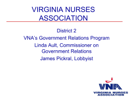 Government Relations - Virginia Nurses Association