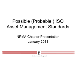 ISO Asset Management Standards