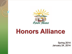 PowerPoint - Honors Alliance at The University of Texas at San