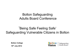 Bolton Safeguarding Adults Board Conference