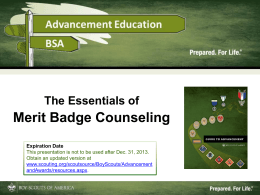 A Guide for Merit Badge Counseling