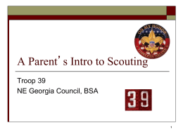 A Parent`s Intro to Scouting