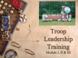 Module I, II, and III - Boy Scout Troop 1104