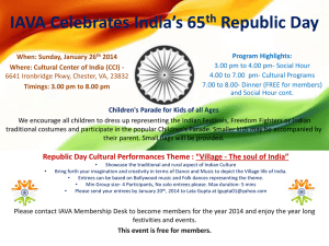 IAVA Celebrates India`s 65th Republic Day