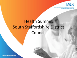 South East Staffordshire & Seisdon Peninsula CCG