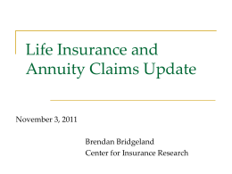 the PDF and read more - Center for Insurance Research
