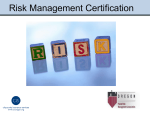 Risk Management Certification PowerPoint - OR