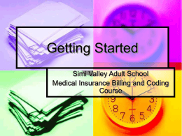 Getting Started - MediClaimClass
