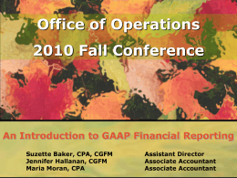 An Introduction to GAAP Financial Reporting