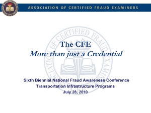 4-450 CFE-More Than Just a Credential