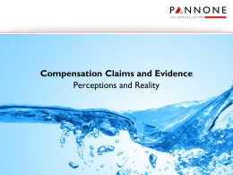Compensation Claims and Evidence