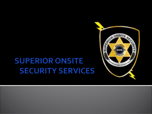 SUPERIOR ON SITE - Security Licenses